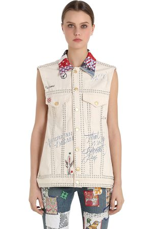 Women Vests & Camis - Tommy Hilfiger PATCHWORK COTTON DENIM VEST