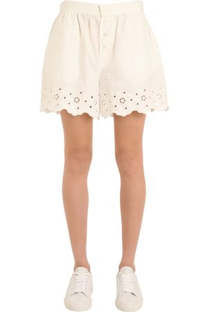 Women Shorts - Tommy Hilfiger COTTON EYELET SHORTS