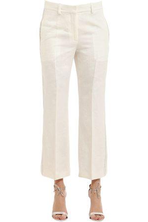 Women Trousers - Calvin Klein HERRINGBONE LINEN PANTS