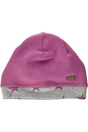 maximo Girl's Jersey Beanie Sterne Hat, Violett (Lila-Sterne 17)