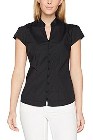 Women's Mandarin Collar Cap Sleeve Blouse