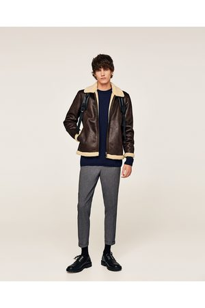 Zara LEATHER EFFECT JACKET - Available in more colours
