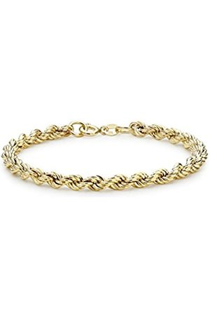 Carissima Gold 9ct Gold Rope Bracelet of 18cm/7""
