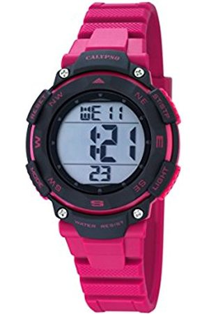 Calypso Unisex Digital Watch with LCD Dial Digital Display and Plastic Strap K5669/2