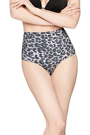 Women's High Rise Bikini Bottoms (Animal Print) Large