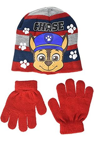 Nickelodeon Boy's Paw Patrol Chase White Steps Hat and Glove Set