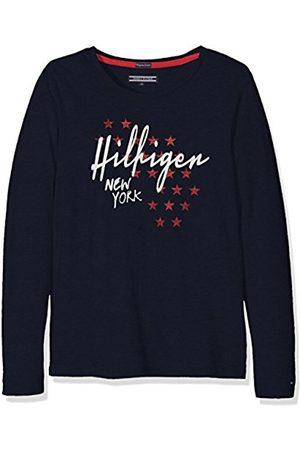 Tommy Hilfiger Girl's Iconics CN Knit L/S T-Shirt, -Blau (Navy Blazer 431)