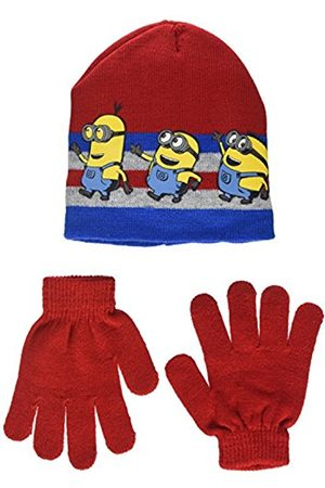 Universal Boy's Minion Team Run Hat and Glove Set