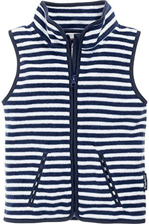 Playshoes Boy's Kids Sleeveless Full Zip Fleece Vest Maritime Striped Gilet