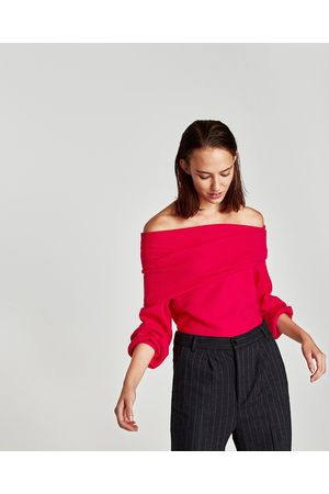 Zara RIBBED BANDEAU SWEATER - Available in more colours
