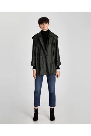 Zara SHORT RUBBERIZED TRENCH COAT