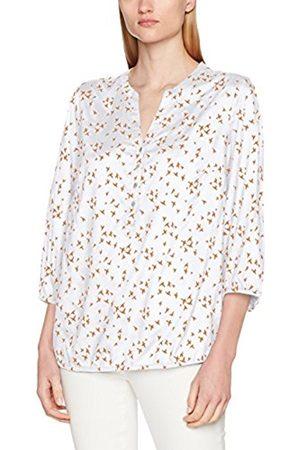 GINA LAURA Women's Shirtbluse, Vogeldruck, Gummisaum Blouse