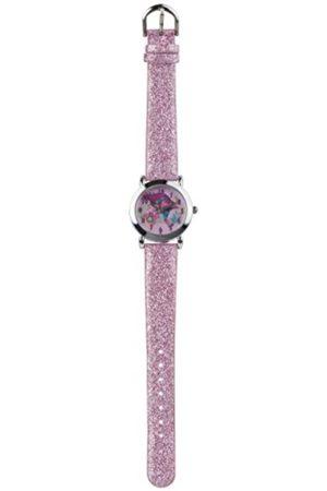 Girls Watches - Trolls Quartz Pink Glitter Strap Watch