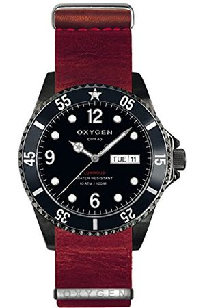 Oxygen Moby Dick 40 Mens Quartz Watch with Dial Analogue Display and Leather Strap EX-D-MBB-40-NL-RE