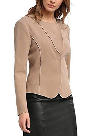 Women Cardigans - APART Fashion Women's Taupe-Black-Print Shrugs