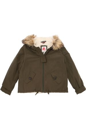 Girls Jackets - American Outfitters COTTON CANVAS & FAUX TERRYCLOTH JACKET