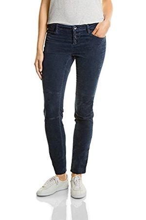 Womens Yule Button Velvet Mw Slimfit Slimleg Trousers Street One LOPRK5S8