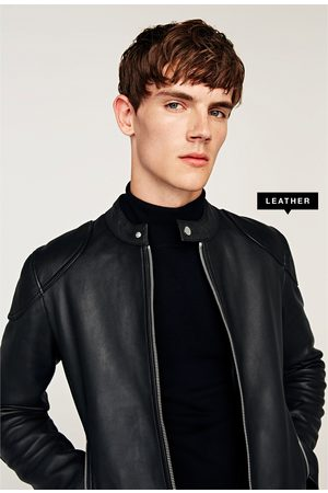 Zara With Men S Leather Jackets Compare Prices And Buy Online