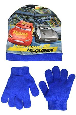 Disney Boy's Cars Lightning Mc Queen 1St Place Scarf, Hat and Glove Set