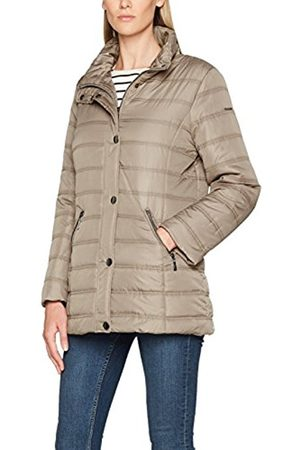 GINA LAURA Women's Steppjacke Stehkragen Knopfleiste Jacket
