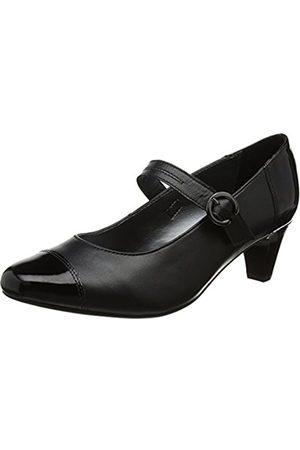 Padders Women's Jean Closed-Toe Heels