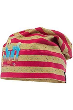 maximo Girl's Beanie middle Bügelmotiv UPF 50+ Hat