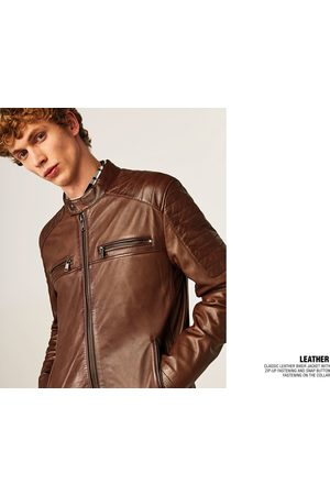 Zara LEATHER JACKET WITH POCKETS - Available in more colours