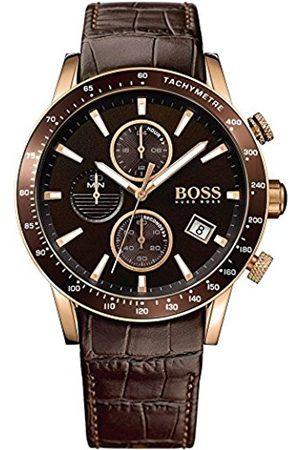 HUGO BOSS Men's Chronograph Quartz Watch with Leather Strap – 1513392