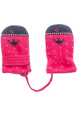 maximo Baby Girls' Fausthandschuh Krone Ohne Daumen Mittens