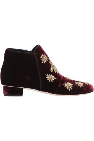 Women Ankle Boots - 30MM SPIDER VELVET ANKLE BOOTS