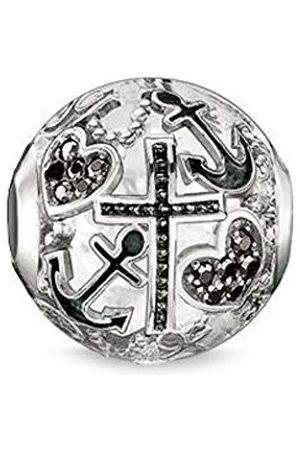 Thomas Sabo Women-Bead Faith Love Hope Karma Beads 925 Sterling blackened Zirconia black K0138-643-11