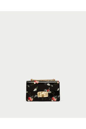 Zara FLORAL PRINT CROSSBODY BAG