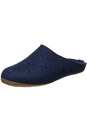 Haflinger Unisex Adults' Everest Noblesse Open Back Slippers blue Size: 5 UK