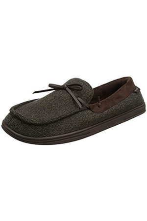 Isotoner Men's Wool Fabric Moccasin Low-Top Slippers