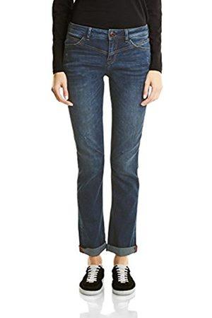 ebb849a1d13142 Street one Women's Denim-Kate, Loosefit, Mw, Straightleg Straight Jeans.  Amazon
