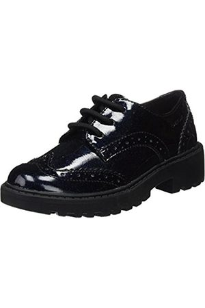 Geox Girls' J Casey K Brogues, (Navy)