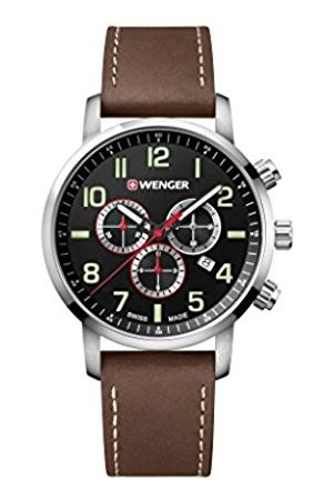 Wenger Unisex Chronograph Quartz Watch with Leather Strap 01.1543.103