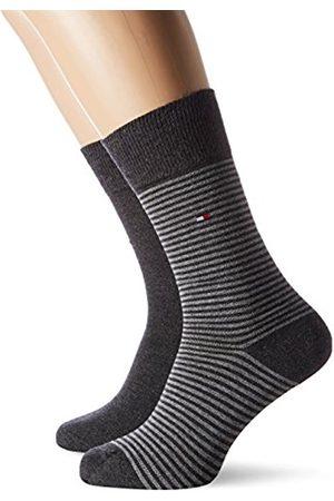 Tommy Hilfiger Men's TH Small Stripe 2P Socks