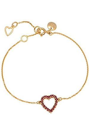 Lola Rose Women Ruby Hand Chain Bracelet of Length 19cm 0000000664691