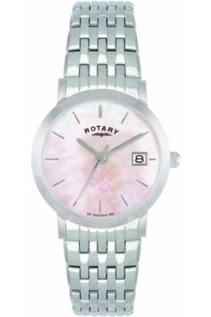 Women Watches - Rotary Women's Quartz Watch with Mother of Pearl Dial Analogue Display and Stainless Steel Bracelet LB02622/07