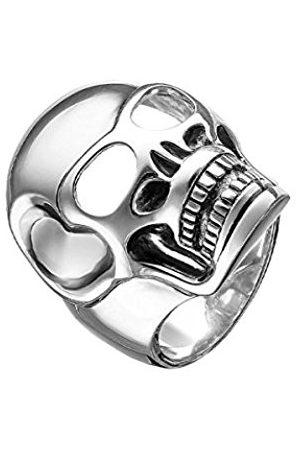 Men Rings - Thomas Sabo Rebel at Heart Skull Design 925 Sterling Silver Men's Ring Size L 1/2 – TR1704 Charm 12 – 52