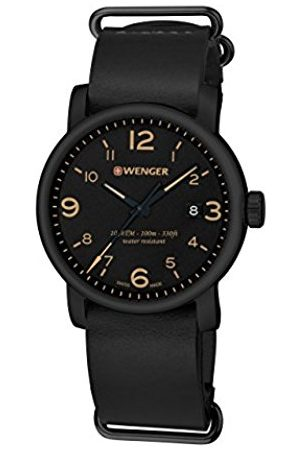 Wenger Men's Analogue Quartz Watch with Leather Strap 01.1041.135