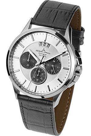 Jacques Lemans Men's Multi dial Quartz Watch with Leather Strap 1-1542L