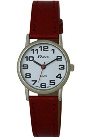 Ravel Large Case Fashion on PU Strap Women's Quartz Watch with Dial Analogue Display and Plastic Strap R0105.10.2