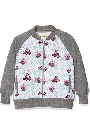 Ben & Lea Girl's Serre Sweatshirt, Multicoloured (Blumen Bunt/dunkelgrau)