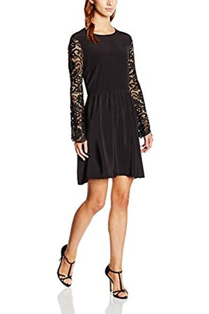 Girls on Film Women's Drop Waist Lace Tunic Long Sleeve Dress