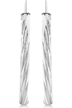 Carissima Gold 9ct Twist Bar Drop Earrings