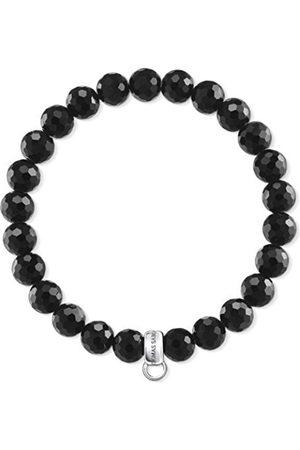 Thomas Sabo Women-Bracelet Charm Club 925 Sterling silver Obsidian Length 15.5 cm X0220-840-11-L15