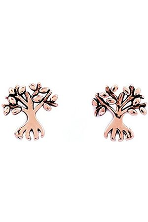 Chrysalis 18k Rose plate Money tree stud earrings. The Money tree is a symbol of affluence and nobility