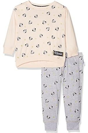 Disney Minnie Mouse Girl's Glitter Long Sleeve Pyjama Set